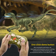 Remote Control Dinosaurs Electric simulation Robot Toy Excavation Jurassic electronic pet T Rex Educational Toys Children Gift