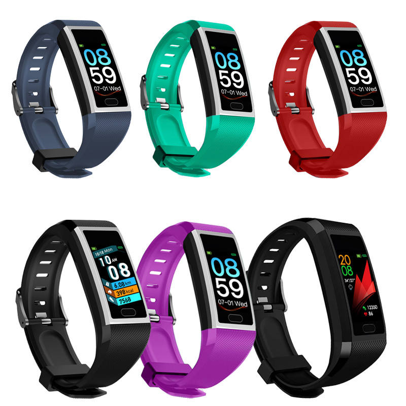 Smart Wristband Fitness Bracelet Waterproof Fitness Tracker Watch Blood Pressure Weather Display Smart Bracelet Watch Women Men