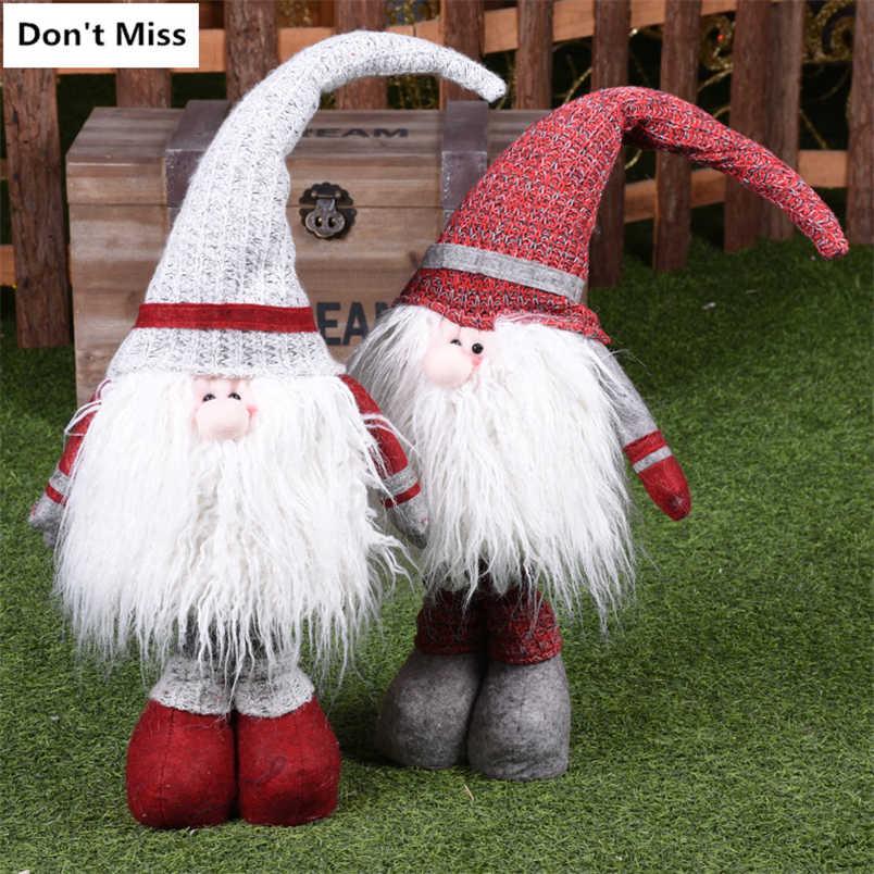 80 centimetri di Natale Figurine A Scomparsa di Natale Babbo Natale Bambole Buon Natale Regalo di Nuovo Anno Di Natale Decorazioni per la Casa enfeites de natal