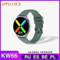 KW66 Smart Uhr Bluetooth 5,0 Smart-Armband Sport Uhr Herz Rate Sport Fitness Tracker IP68 Wasserdichte SmartWatch