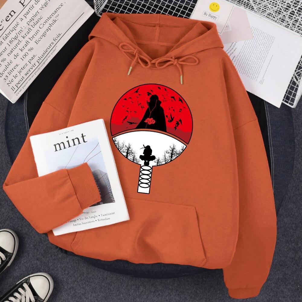 Hoodie For Women Manga Print Street Fashion Loose Tracksuits Anime Wear Vintage Crewneck Wears Pattern Fleece Hoody Female Tops 15