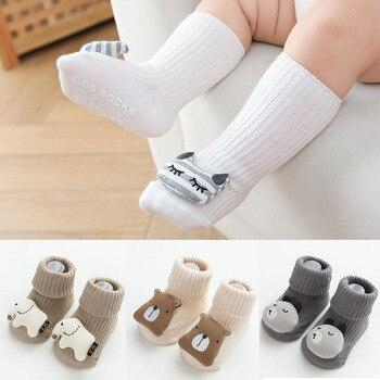 Cotton Baby Socks Cartoon Newborn Socks Rubber Anti Slip Infant Floor Stocks for Children Kids Autumn winter Knee High socks