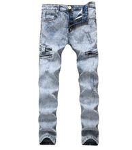 New Fashion Boutique Stretch Casual Mens Jeans Skinny Jeans Men Straight Mens Denim Bike Jeans 2019 Male Stretch Trouser Pants цена