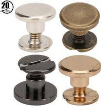 Clothes-Accessories Screws Account Brass Rivet Studs-Sewing-Tool TOPINCN Plating Book-Connecting