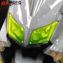 Motorcycle accessories Headlight Protector Cover For Yamaha TMAX 530 2015 2016 Moto Cafe Racer ABS Headlamp Shield Screen Lens