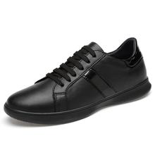 Men Casual Shoes Brand Leather Men Flats Shoes Men Sneakers Genuine Leather Business Spring Autumn Plus Big Size 47-46 *L1811 plus size 34 43 genuine leather women shoes fashion leisure spring pointy bling rhinestone flats shoes patent leather crystal