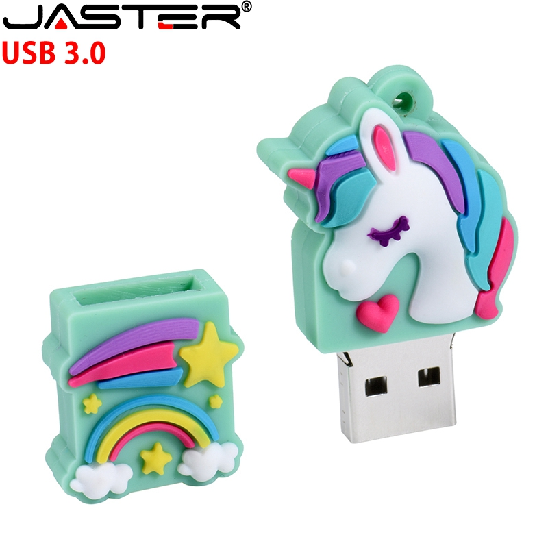 JASTER Cartoon The New Unicorn Pen Drive 16GB 8GB 64GB 32GB 128GB Usb Flash Drive Pendrive  Memory Stick U Disk Fashion Gift