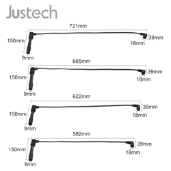Justech 4 шт. кабель зажигания для Audi Seat Skoda VW Bora Golf, Lupo Polo Klasseic вариант свечи зажигания Набор кабелей