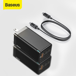 Baseus GaN Pro 65W USB Charger US Plug Quick Charge 4.0 3.0 Type C PD Fast Phone Charger QC4.0 ForiPhone ForXiaomi Laptop Tablet