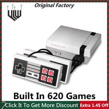 Wbudowany w 620 gry Mini konsola do gier TV 8Bit Retro Classic przenośny odtwarzacz gier prezent na boże narodzenie AV wyjście wideo konsola do gier tanie tanio Etab CN (pochodzenie) Wtyczka UE GC03 04