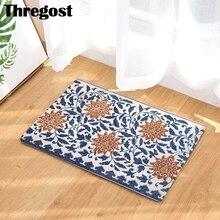 Alfombrillas de bienvenida con estampado Floral para puerta Delantera, felpudo musulmán para decoración del hogar, alfombra de cocina lavable 3D