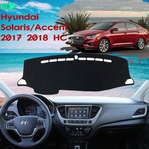 Накладка на приборную панель, защитная накладка на заднюю панель для Hyundai Solaris 2 Accent 2017 2018 HC, Солнцезащитный коврик, автомобильные аксессуары
