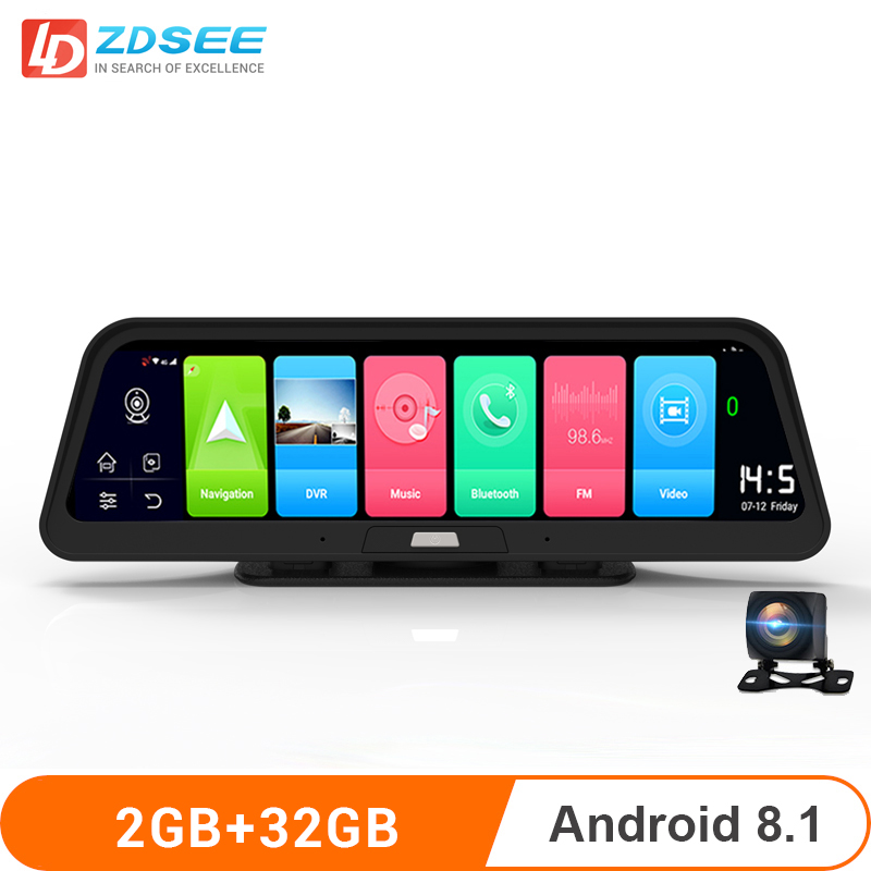LDZDSEE Z10 Car GPS Navigation Android8.1 4G ADAS Full HD 1080P DVR portable truck Auto navigator europe 9.88 inch IPS Sat nav