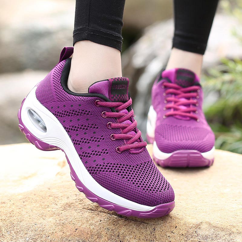 Women Sneakers 2019 Breathable Mesh Casual Shoes Woman Tennis Sneakers Sports Shoes Female Lace-up Fashion Sneakers Women Shoes