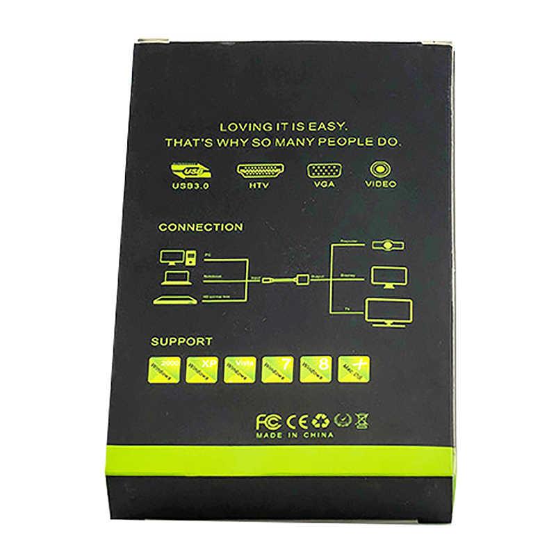 Адаптер с VGA на HDMI, 1080P, HD + аудио, ТВ, AV, HD, ТВ, видео кабель, переходник с VGA на выход HDMI
