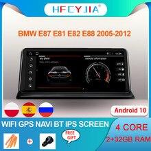 Reproductor Multimedia con GPS para coche, reproductor con Android 10, WIFI, Google BT, 2 + 32G, pantalla táctil IPS, navegador Navi, estéreo, para BMW E87, E81, E82, E88, 2009-2016