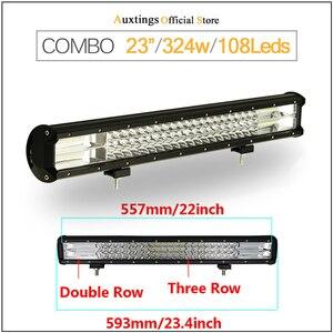 "Image 5 - Auxtings 5 ""14"" 17 ""20"" 23 3 Reihe LED Licht Bar Offroad Led Bar Combo beam Led Work Light Bar für Lkw SUV ATV 4x4 4WD 12v 24V"