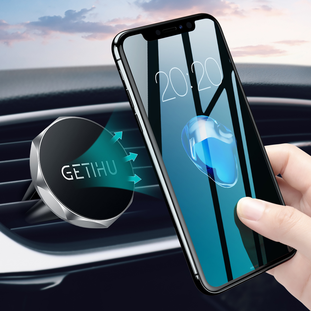 GETIHU Car Phone Holder Magnetic Air Vent Mount Mobile Smartphone Stand Magnet Support Cell in Car GPS For iPhone XS Max Samsung luces led de policía