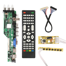 3663 New Digital Signal DVB C DVB T2 DVB T Universal LCD TV Controller Driver Board UPGRADE 3463A Russian USB play LUA63A82