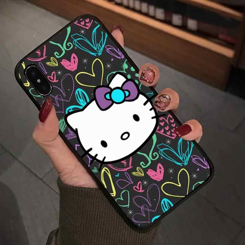 Babaite sevimli Hello Kitty kılıfları Samsung Galaxy S9 artı J2 J3 J310 J4 J5 başbakan J6 J7 cep telefon aksesuarları