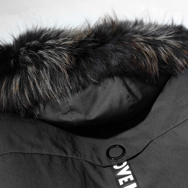 Натуральное пальто, мужское зимнее пальто, мужское пальто из овечьей кожи, пальто с воротником енота, пальто