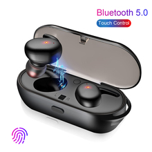 Bluetooth Earphone 5.0 Mini TWS Wireless Headset Touch Control Stereo Sport In-Ear Earbuds with Mic for Iphone Android Huawei twins wireless bluetooth in ear earphones stereo headset for iphone for airpods android running sport mini bt earphone qiy16 23