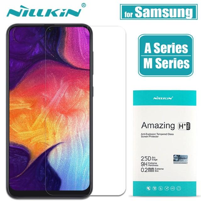 Do Samsung A70/A50/A30/A20/M30 ochraniacz ekranu ze szkła Nillkin 9H szkło hartowane dla Galaxy a90/A80/A60/A40/A10/M10/M20