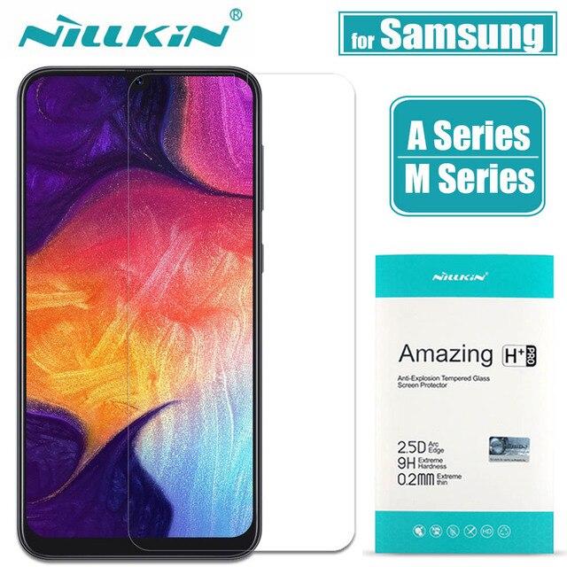 Protector de pantalla de vidrio templado para Samsung, Protector de pantalla de vidrio templado de seguridad 9H para Samsung A70/A50/A30/A20/M30 para Galaxy A90/A80/A60/A40/A10/M10/M20