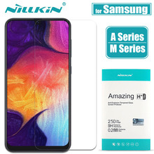 for Samsung A70/A50/A30/A20/M30 Glass Screen Protector Nillkin 9H Safety Tempered Glass for Galaxy A90/A80/A60/A40/A10/M10/M20