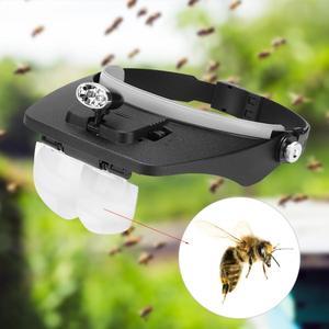 Image 2 - כלים גידול דבורים זכוכית מגדלת LED גידול דבורים דבורת נע מגדלת זכוכית רכוב הגדלה מראה עדשה גן כלים