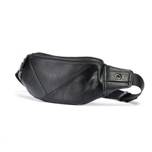 Waist Bag New Trends Casual Outdoor Sport Chest Simple Fashion PU Leather For Men