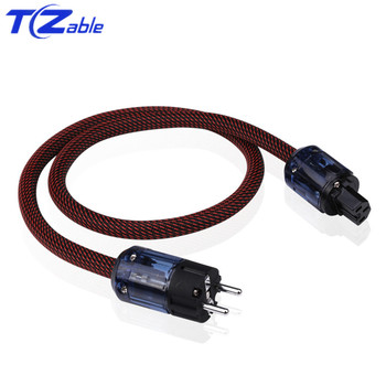 цена на Hifi Power Cable P037 US Standard Plug IEC Audio Connector Pure Copper Power Cord With Braid For DVD Amplifer Multimedia
