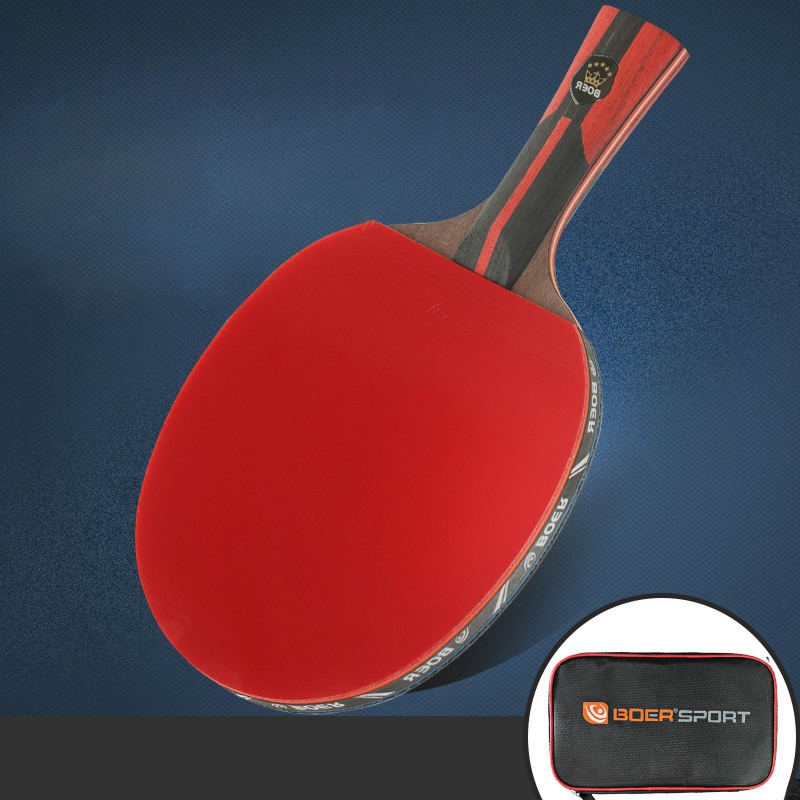 6S Professional Table Tennis Paddle Ping Pong Racket Soft Sponge Rubber Ergonomic Long/Short Handle Racket With Carrying Case
