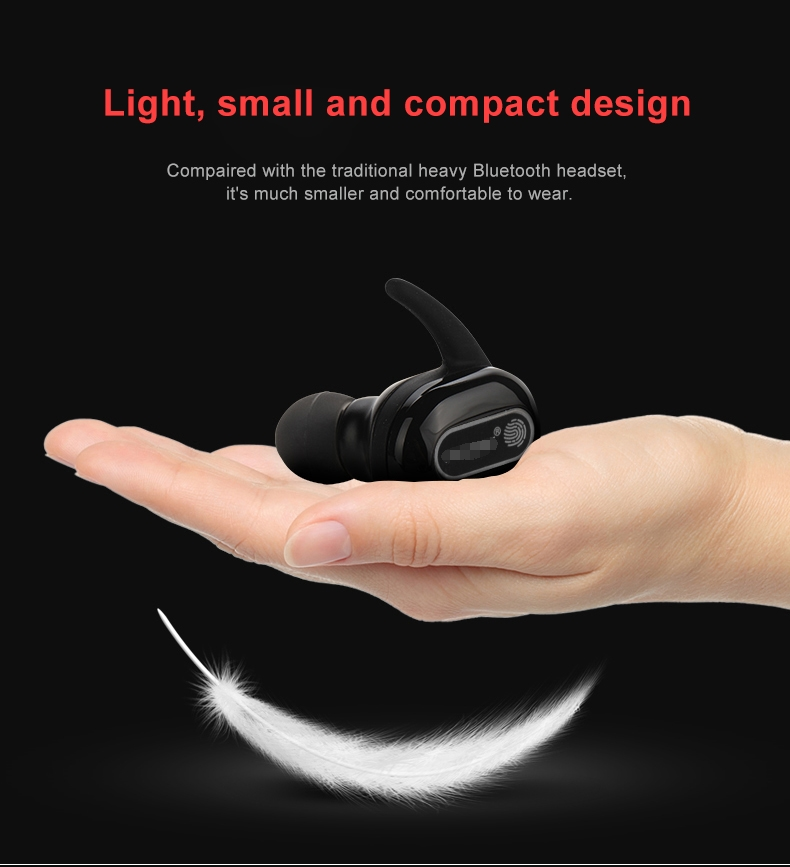 ASTROSOAR - Fineblue TWS-R10 True Wireless Bluetooth® Earbuds Fingerprint Touch Control Bluetooth Headphones
