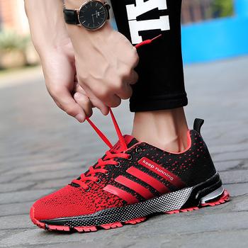 Para butów do biegania oddychające odkryte męskie buty sportowe lekkie buty sportowe damskie wygodne trening sportowy obuwie tanie i dobre opinie AZIGK TPAMAI Unisex Odpowiedź poduszki Motion control Hard court Profesjonalne Dla dorosłych Wysokość zwiększenie Masaż