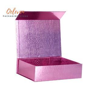Оптовая магнитная коробка складная бумажная упаковка подарочная коробка, 10 шт./лот фиолетовые складные подарочные коробки Магнитная упако...