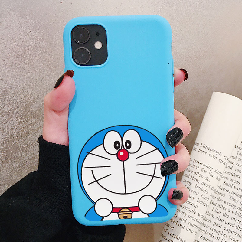 Blue Cat Doraemon <font><b>Phone</b></font> <font><b>Case</b></font> For <font><b>Samsung</b></font> Galaxy S10 S9 S8 <font><b>S7</b></font> S6 Plus Lite edge S10e Frosted Silicone <font><b>Cases</b></font> Soft Cover image