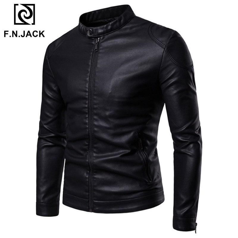 F.N.JACK Mens Leather Jackets Winter Coats Mont Clothes Motocycel Jacket Chamarras Para Hombre Chamarras Para Hombre Chaqueta