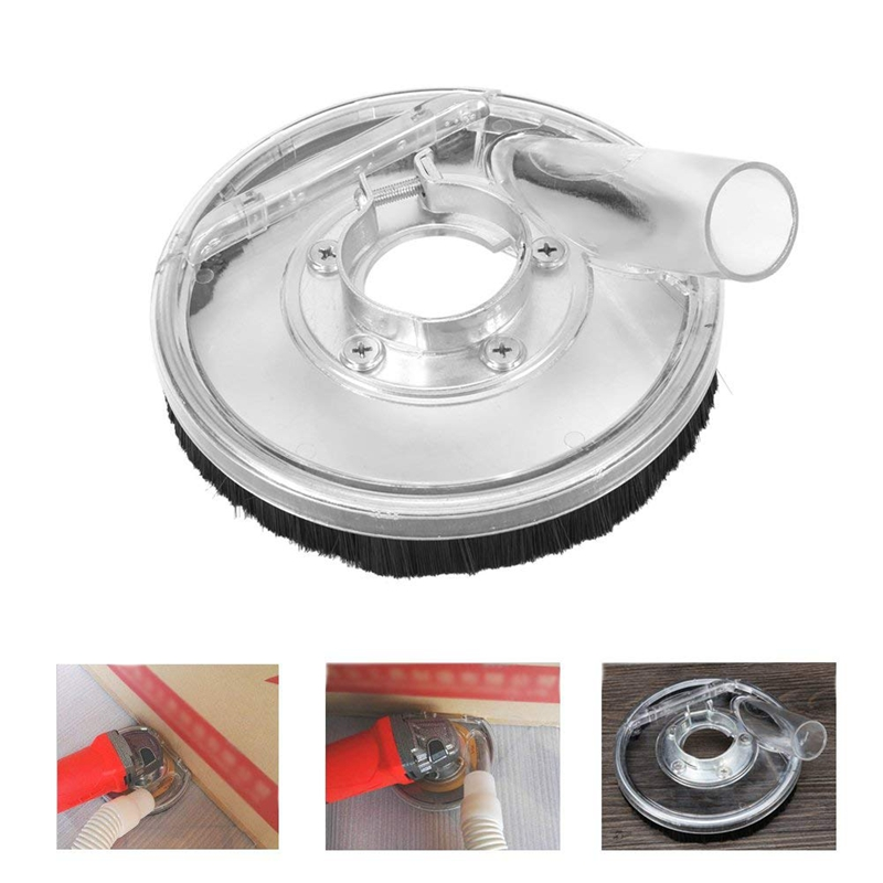 Dust Shroud Cover Fits Angle Hand Grinders 80 125mm Clear Vacuum Dust Shroud Dry Grinding Dust Cover in Protective Gear from Sports Entertainment