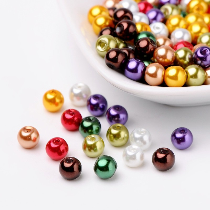 Lavender Garden Glass Pearl Bead Mix 4mm//6mm//8mm