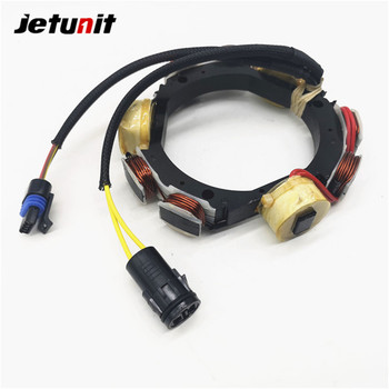 JETUNIT Outboard Stator Assy 12 Amp For Johnson Evinrude 10-15-25-35 HP 2 & 3 Cyl 584548 584821 763761 173-4821 jetunit 100%premium outboard 9 amp stator assy for mercury 60 85hp 9 amp 2 3