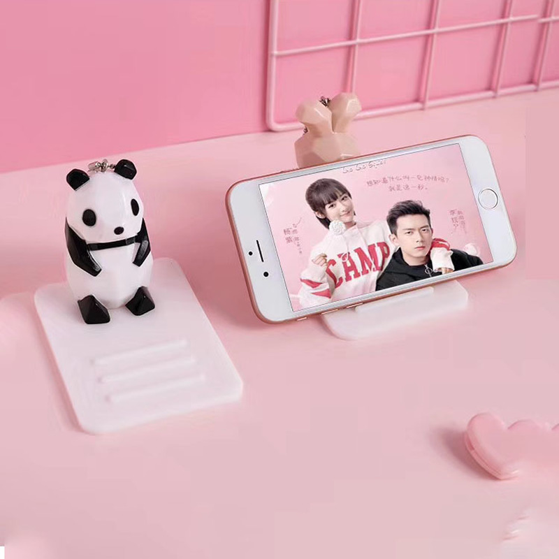 Cartoon Panda Phone Stand Bracket Base Mobile Phone Holder Universal Desk Decor Anti-slip Stand Holder For IPhone Huawei Samsung