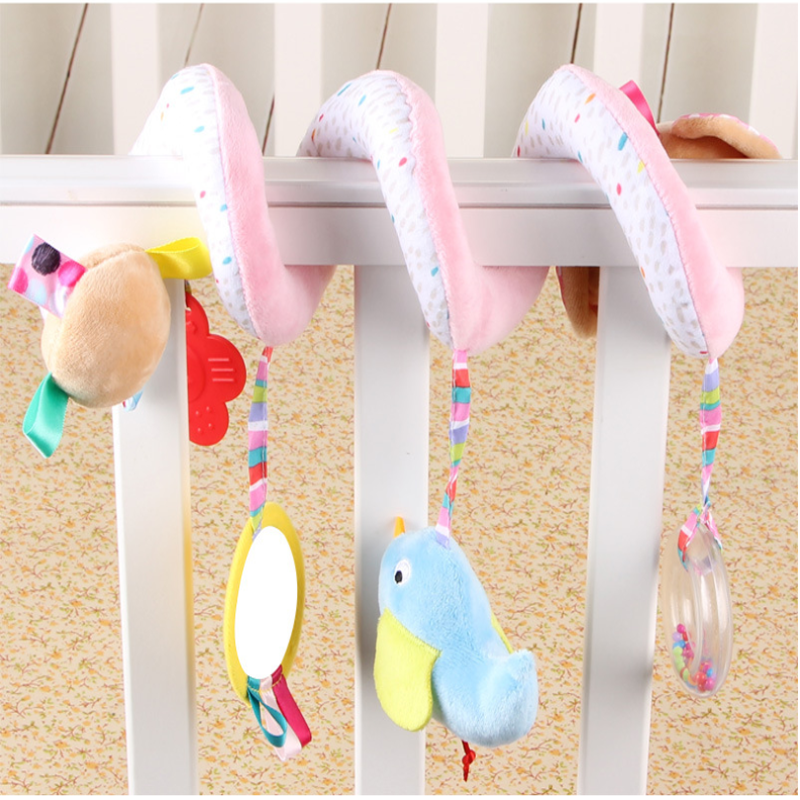 Newborn Baby Toys 0-12 Months Mobile Bed Stuffed Stroller Toys Lovely Unicorn Padded Play Hanging Toys Baby Rattles Two Styles