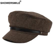 Женская винтажная шапка showersmile baker осенне зимний берет