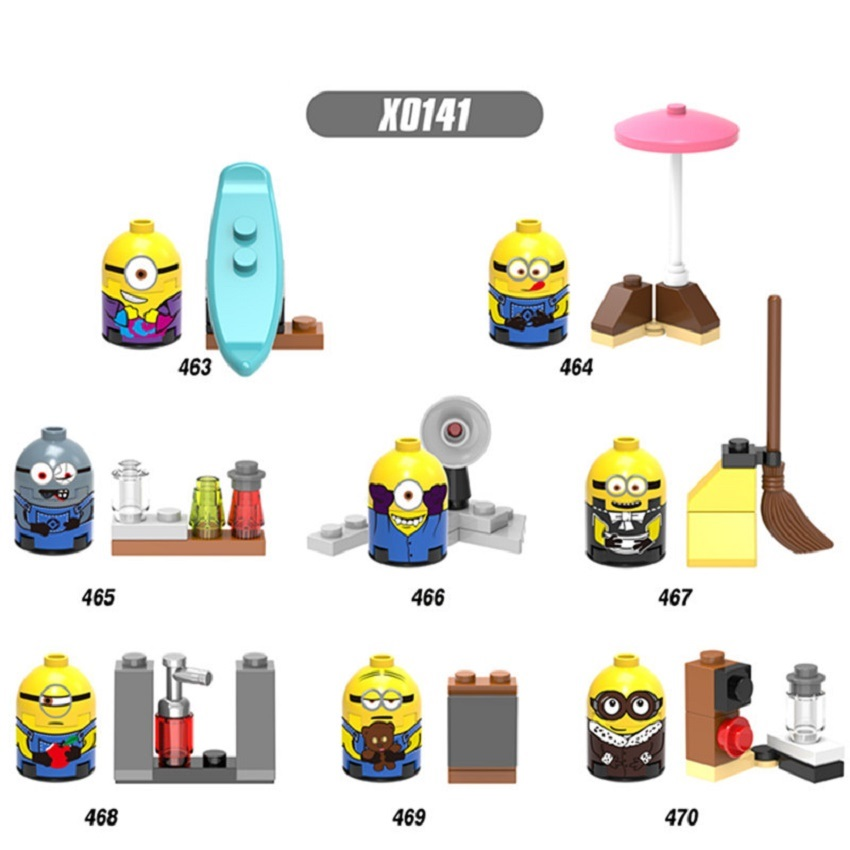 X0141 New Despicable Mini Me Cartoon Anime Movie Minions Bricks Action Figures Building Blocks Best Children Gift Toys