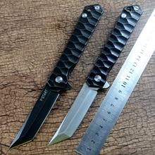 New Y-START Flipper knife  440C blade titanium tanto knife TC4 handle outdoor camping hunting pocket knife EDC tools