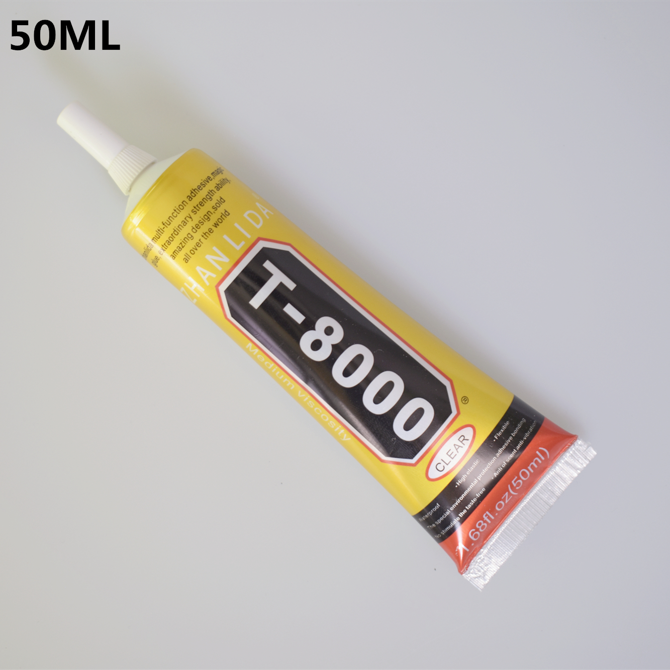1 Pc 50ml T-8000 Glue T8000 Multi Purpose Glue Adhesive Epoxy Resin Repair Cell Phone LCD Touch Screen Super DIY Glue T 8000