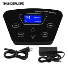 P300 Professional Digital LCD Touch Screen Tattoo Power Supply with Power Adaptor for Coil & Rotary Tattoo Machines