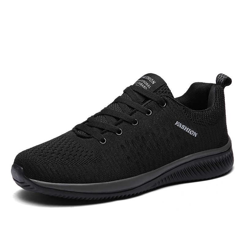 Kadın ayakkabı nefes örgü Sneakers kadınlar için hafif yürüyüş vulkanize ayakkabı spor Flyknit rahat ayakkabılar düz spor Tenis