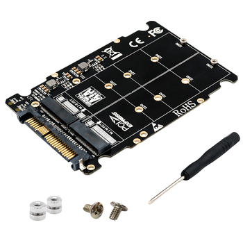 M.2 Ssd To U.2 Adapter 2In1 Nvme And Sata-Bus Ngff Pci-E Sff-8639 Pcie M2 Converter For Desktop Computers - discount item  45% OFF Accessories & Parts